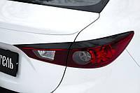 Реснички накладки на задние фонари Mazda 3 седан 2013+ г.в. Мазда