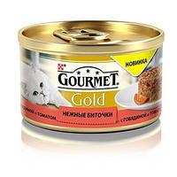 Purina  Gourmet Gold нежные биточки с говядиной и томатами, 85 г