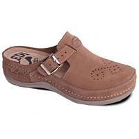 Обувь анатомическая - Сабо женские анатомические (коричневый замш)