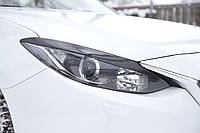 Реснички накладки на передние фары Mazda 3 седан 2013+ г.в. Мазда