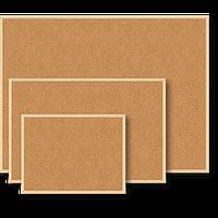 Доска пробковая BUROMAX 45 x 60 см деревянная рамка