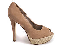 Женские туфли на шпильке с открытым носком
