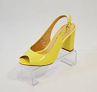Босоножки желтые Foletti 94