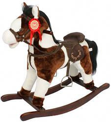 Игрушечный конь - качалка с музыкой JR603