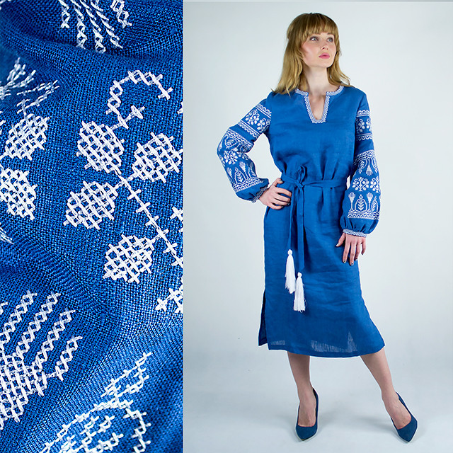Платье с вышивкой в украинском стиле Кружево