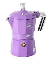Кофеварка гейзерная, на 3 порции, фиолетовая zarina