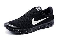 Кроссовки Найк Free Run 3.0 текстиль, мужские, черные, р. 41 43 44