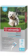 Капли Bayer Advantix (капли от блох, клещей и комаров) для собак 4-10кг (1 пипетка)