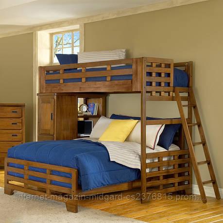 """Двухярусная  кровать семейного типа """"Оливер """" массив дерева, фото 2"""