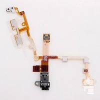 Шлейф iPhone 3G с коннектором наушника черный H/C, фото 1