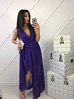 Легкое женское платье из шифона