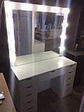 Білий макияжный стіл з підсвічуванням V131, фото 2