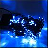 "Гирлянда черная ""линза"" 200 LED, синие огни с регулировкой"