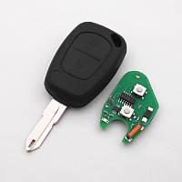 Ключ с платой Renault 2 кнопки 433Mhz, чип ID46 PFC7946, лезвие NE73, фото 1