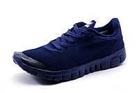 Кроссовки Найк Free Run 3.0 текстиль, мужские, темно-синие, р. 41 42 43 44