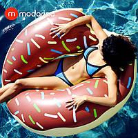 Modarina Надувной шоколадный круг Пончик 120 см, фото 1