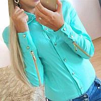 Женская рубашка с молниями СС7061