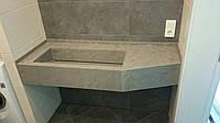 Столешница в ванную из акрилового камня , фото 1