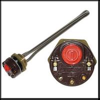 "ТЭН SNL нерж. 1, 0кВт с терморегулятором, для чуг. батарей, резьба латунь 1 1/4"" правая"