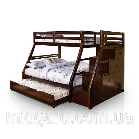"""Двухярусная  кровать семейного типа """"Аделия """" массив дерева, фото 2"""