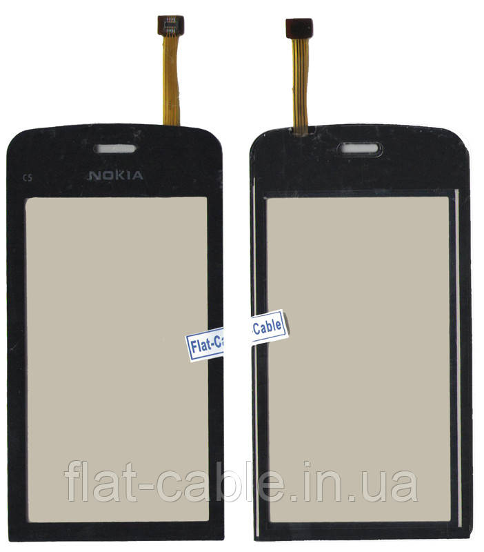 Сенсор Nokia C5-03/С5-06 чорний (оригінальний)