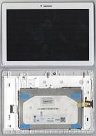 Дисплей для планшета Lenovo A10-30 A10-30L IdeaTab 2 X30L + сенсорный экран белый+передняя панель