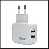 Сетевое зарядное устройство Aspor А838 5V/2.1A 2USB, цвет белый