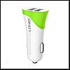 Автомобильное зарядное устройство Ldnio C332 5V/3.4A 2USB, с Micro USB кабелем, цвет белый с зелен