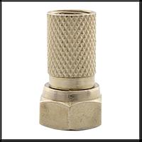 Штекер гайка F с резиновой прокладкой (улучшенное качество)