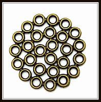 """Декоративный элемент """"кружочки"""", бронза (диам. 3 см) 5 шт в уп"""