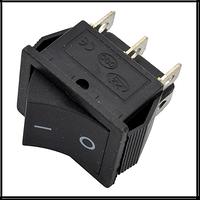 """Кнопка """"Вкл/Выкл"""" (с возвратом) клавиша широкая 6 контактов 2 положения без подсветки (кп-45в)"""