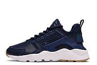 Мужские кроссовки Nike Huarache  Run Ultra SI Leather Blue, фото 1