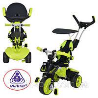 Трехколесный велосипед Injusa City Trike 3263-004 Зелено-черный, фото 1