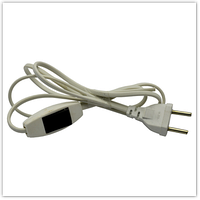 Шнур-бра 1, 5м белый с перекл. (черная клавиша) 220В