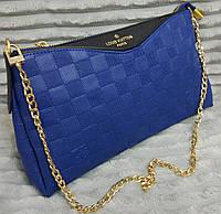 Модная сумка-клатч через плечо Louis Vuitton Луи Виттон синяя