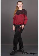 Трикотажный женский костюм Аракси бордо Olis-Style 46-52 размеры