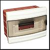 Щиток электрический LUXEL 8106 на 6 автоматов со стеклом внутренний