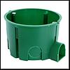 """Коробка монтаж.35100 """"Schneider Electric"""" в бетон (зеленая) 65*45 стыковочная-ушко (поштучно)"""