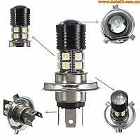 Авто-лампы H4 CREE LED светодиодные с линзой и радиатором (лучше за галогеновые и ксеновые DRL, ДХО)