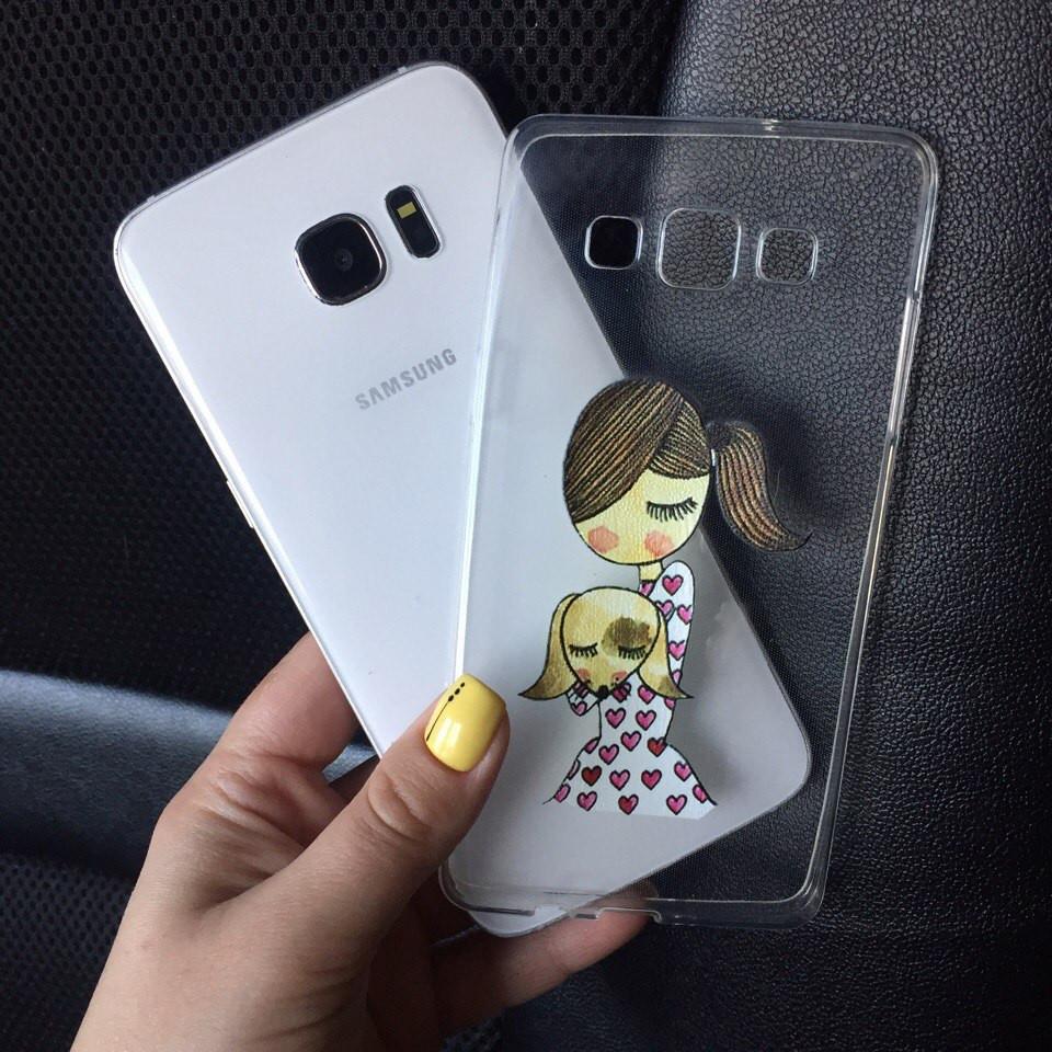 Чехлы для Samsung Galaxy J1 2015 (J100h) силиконовые с дизайном