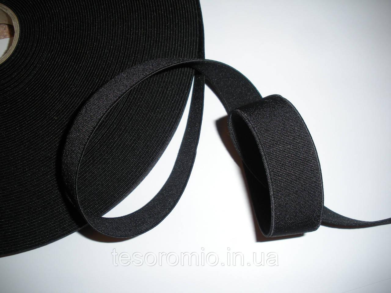 Резинка черная, плотная, тугая 2,5см