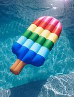 Надувной матрас мороженое. Для пляжа бассейна и вечеринок. Размер 146 см.