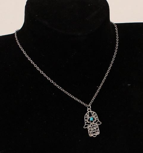 Подвеска Рука Фатимы серебро/бижутерия/ цвет серебро
