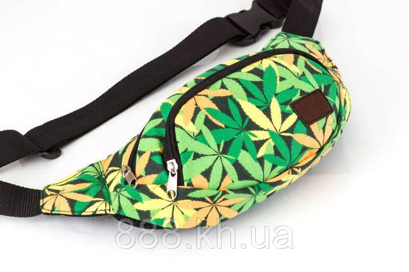 Поясная сумка бананка UK зеленый
