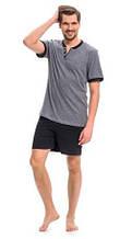 Пижама мужская хлопковая летняя футболка и шорты Dobra Nocka 9282