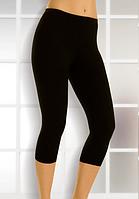 Легинсы женские ниже колен черные S-XXL