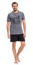 Пижама мужская хлопковая летняя футболка и шорты Dobra Nocka 9281