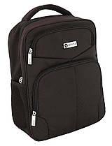 Рюкзак ділової Optima, 34х30х12 см,темно-коричневий O97364