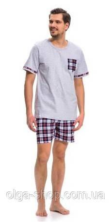 Пижама мужская хлопковая летняя футболка и шорты Dobra Nocka 9278
