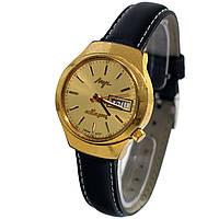 Позолоченные электронно-механические кварцевые часы Луч сделано в СССР - 買い腕時計ソ